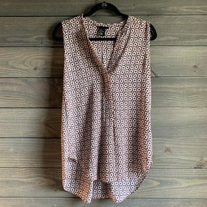 H&M Pink and Black Blouse